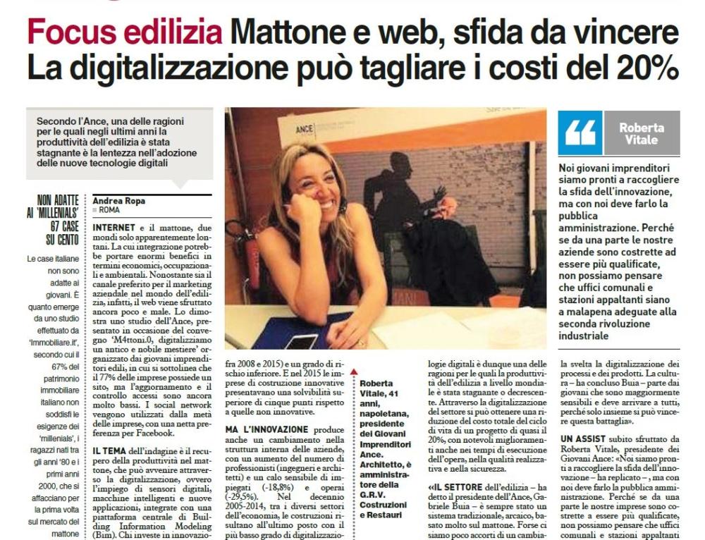 Mattone e web, sfida da vincere. La digitalizzazione può tagliare i costi del 20%