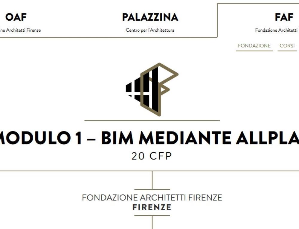 CORSO SUI PROCESSI BIM MEDIANTE ALLPLAN-Ordine Architetti di Firenze